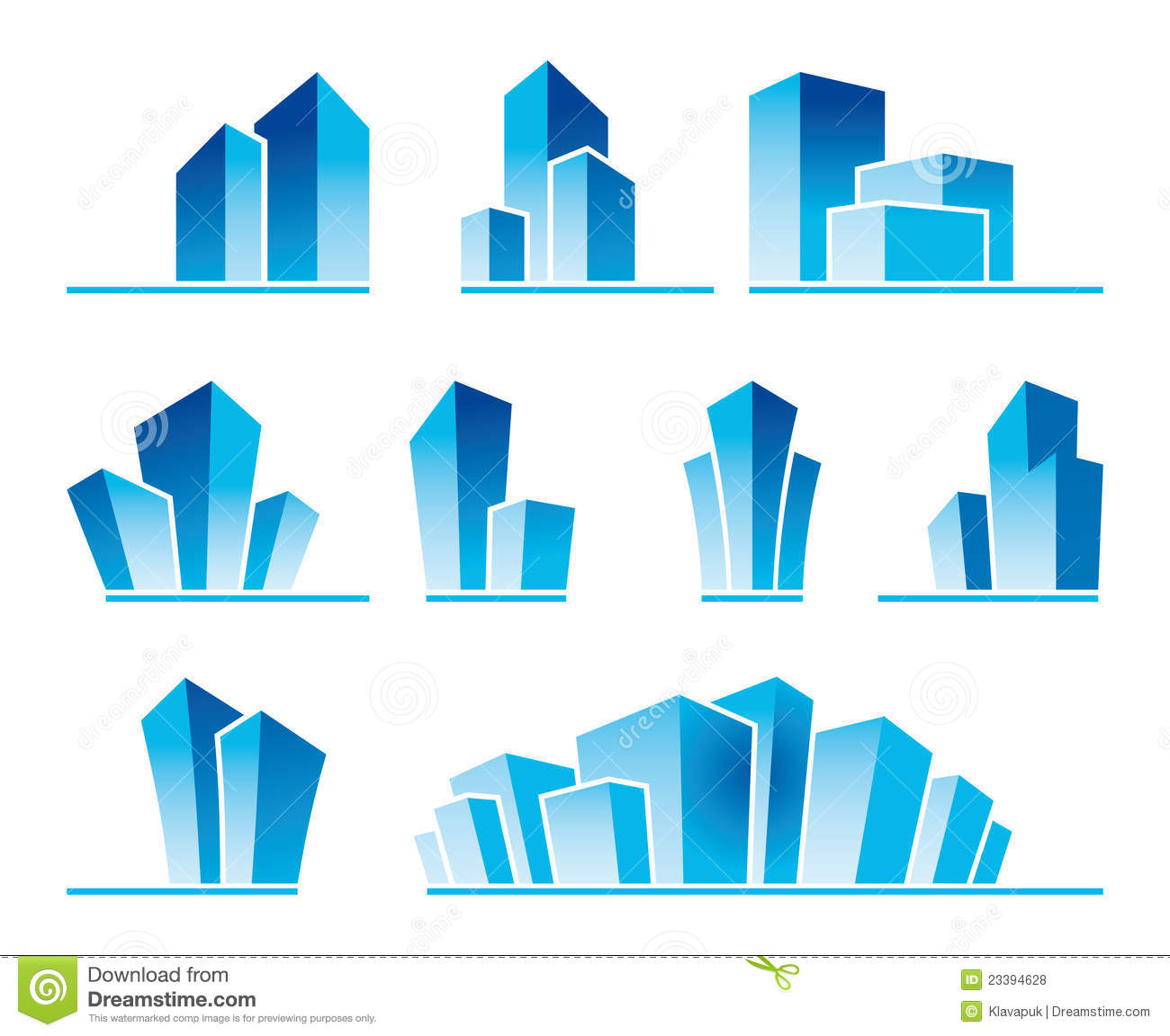 Real estate symbols stock vector illustration of district 23394628 real estate symbols biocorpaavc Image collections