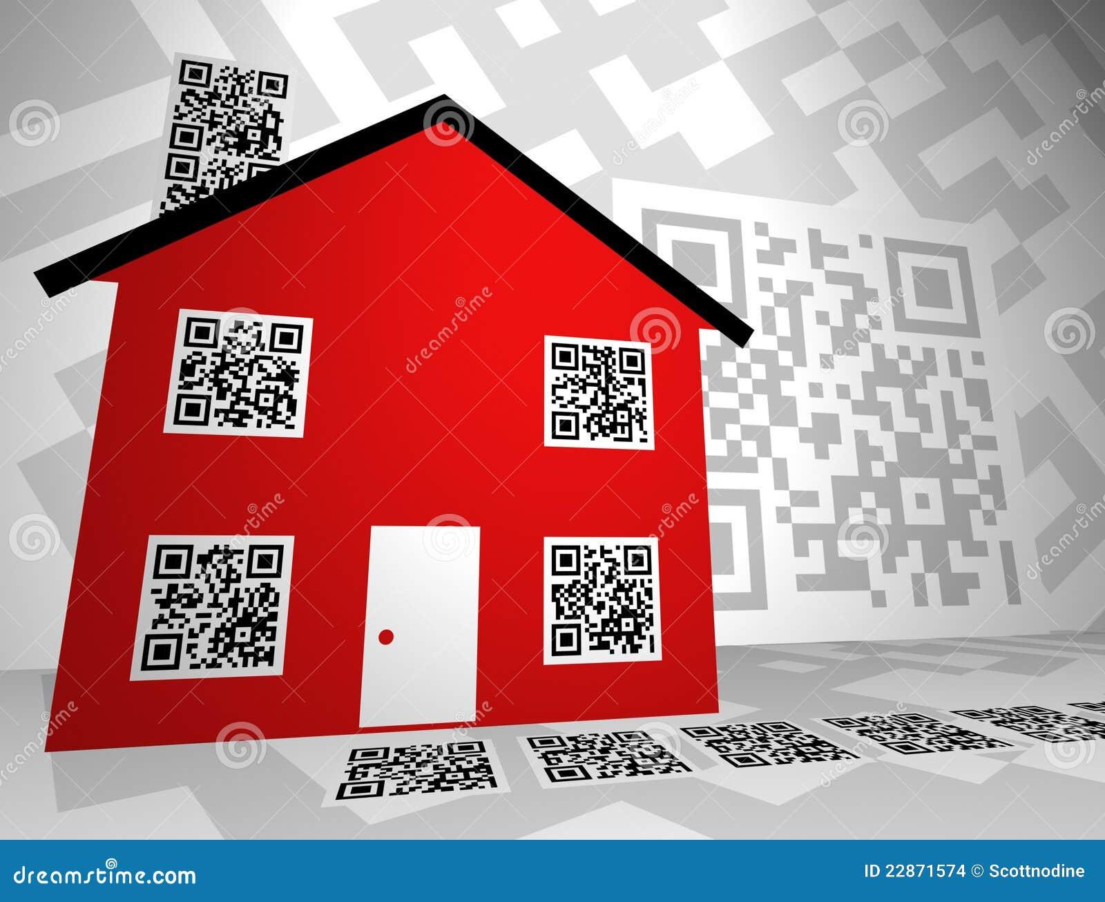 Real Estate Themed QR Codes Concept Design