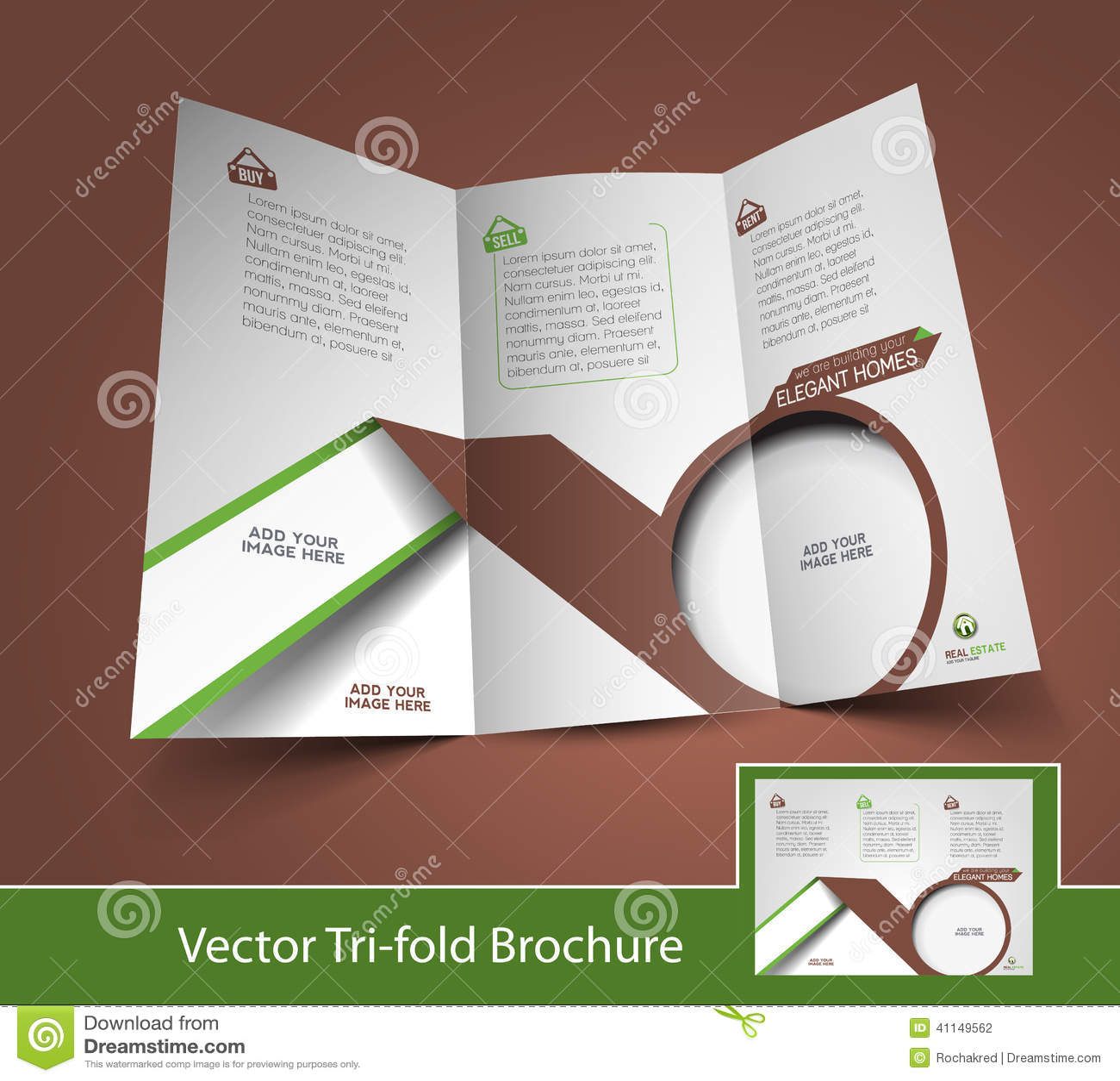 real estate tri fold brochure stock vector illustration of