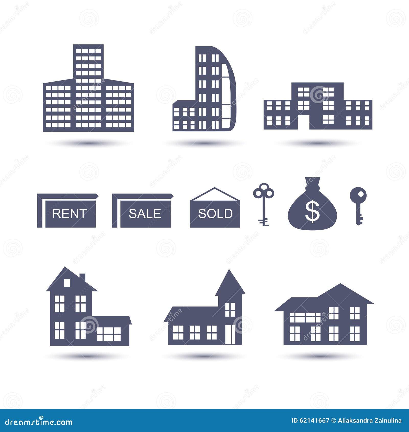 Real Estate vektorsymboler