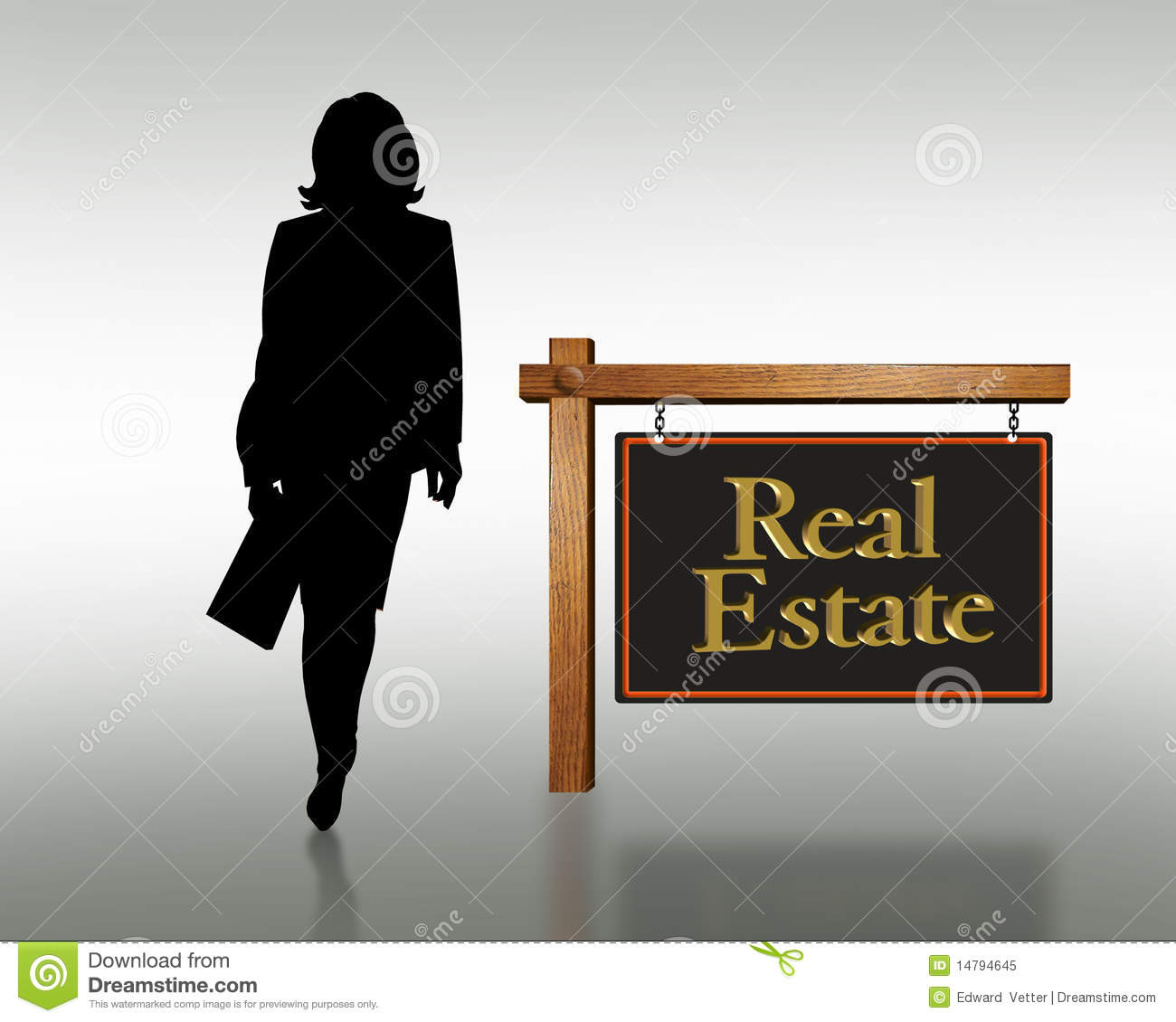 real estate woman business card logo
