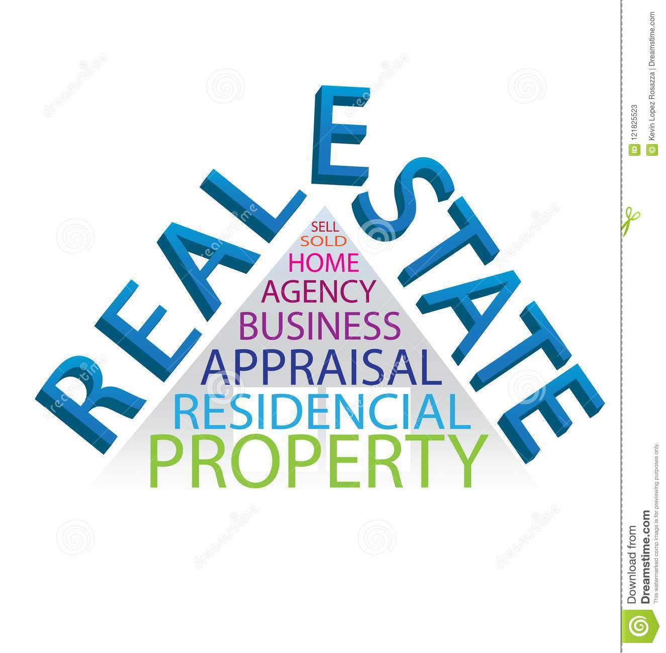 Real Estate And Words House Abstract Design Icon Logo Vector Stock