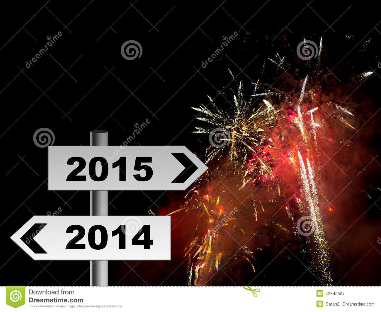 real fireworks new year party 2015 celebration background