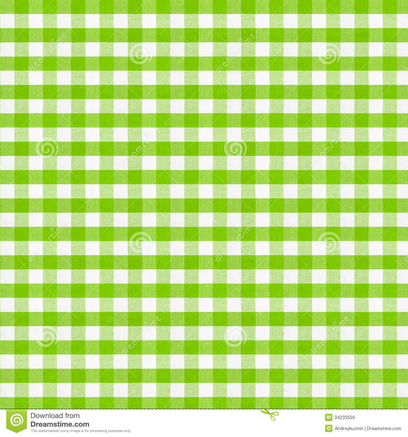 Royalty Free Stock Photo. Download Real Green Checkered Fabric Tablecloth  ...