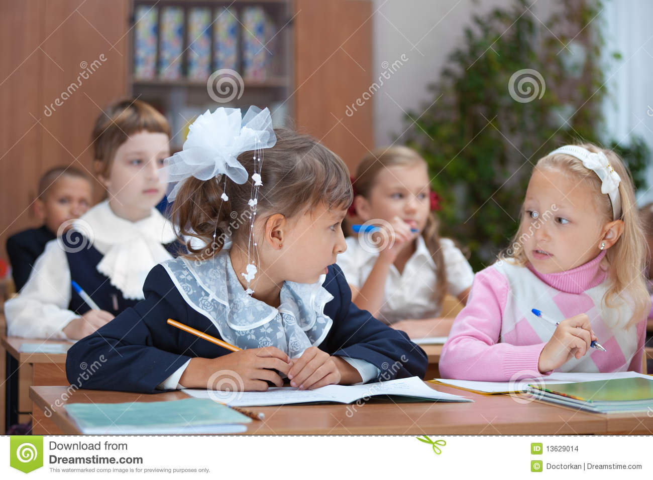 Real Lesson. Pupils Conversation Stock Photography ...