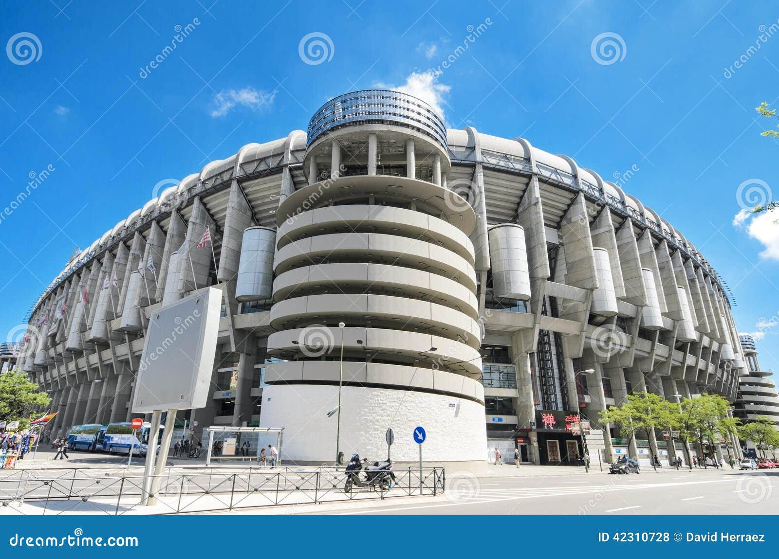 Real Madrid football club Santiago Bernabeu stadium.