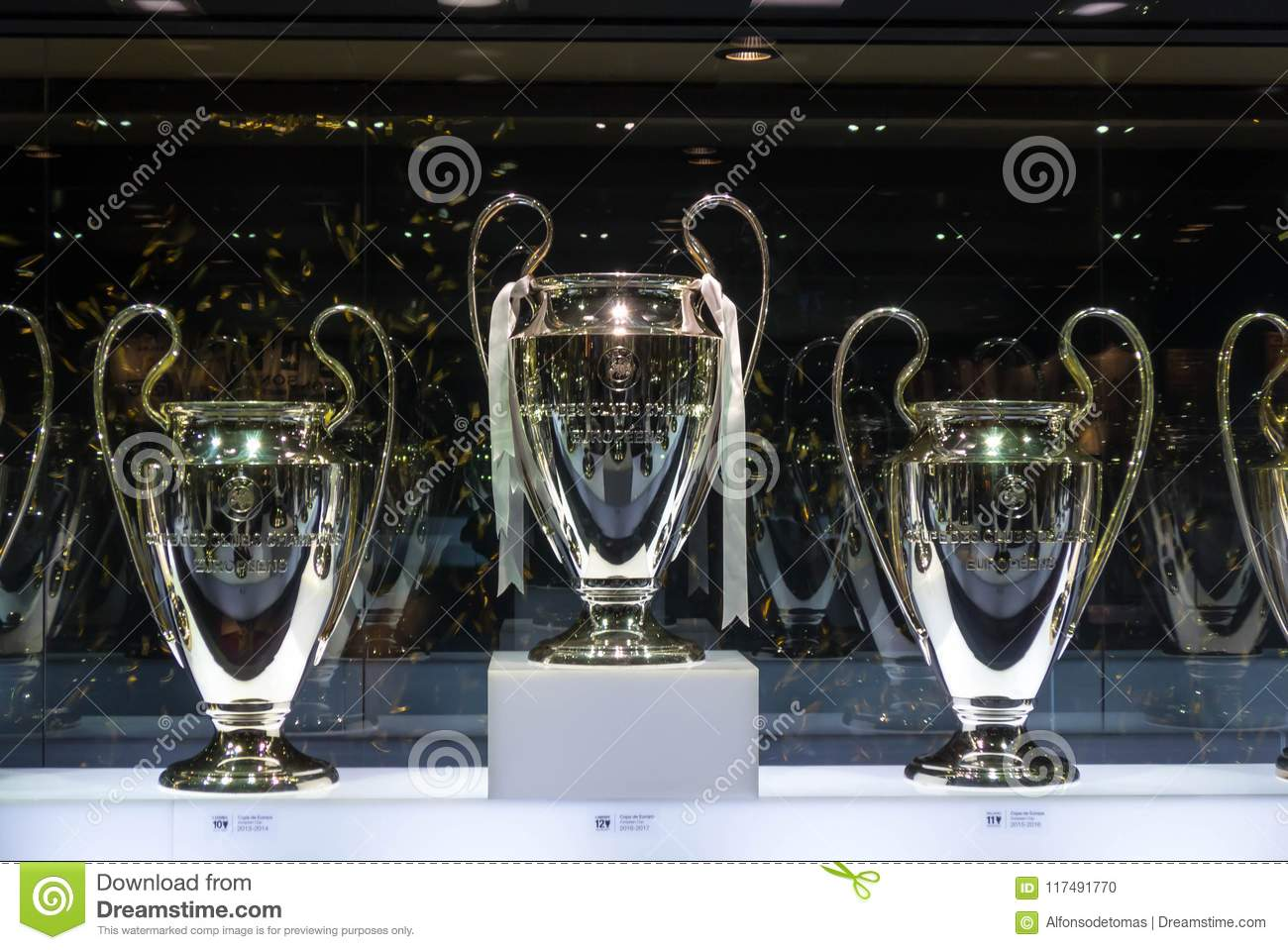 Real Madrid UEFA champions League cups trophies