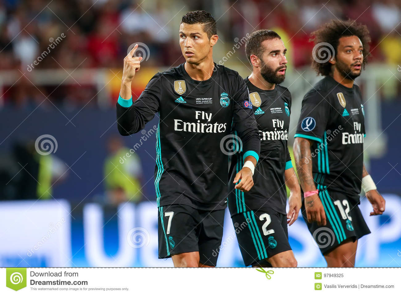 real madrid v manchester united uefa super cup editorial image