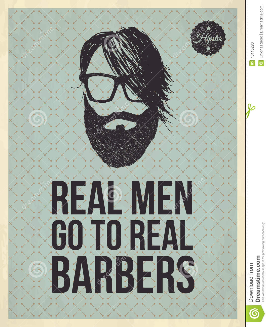 Stock Quotes Free Real Time: Real Men Go To Real Barbers Stock Vector
