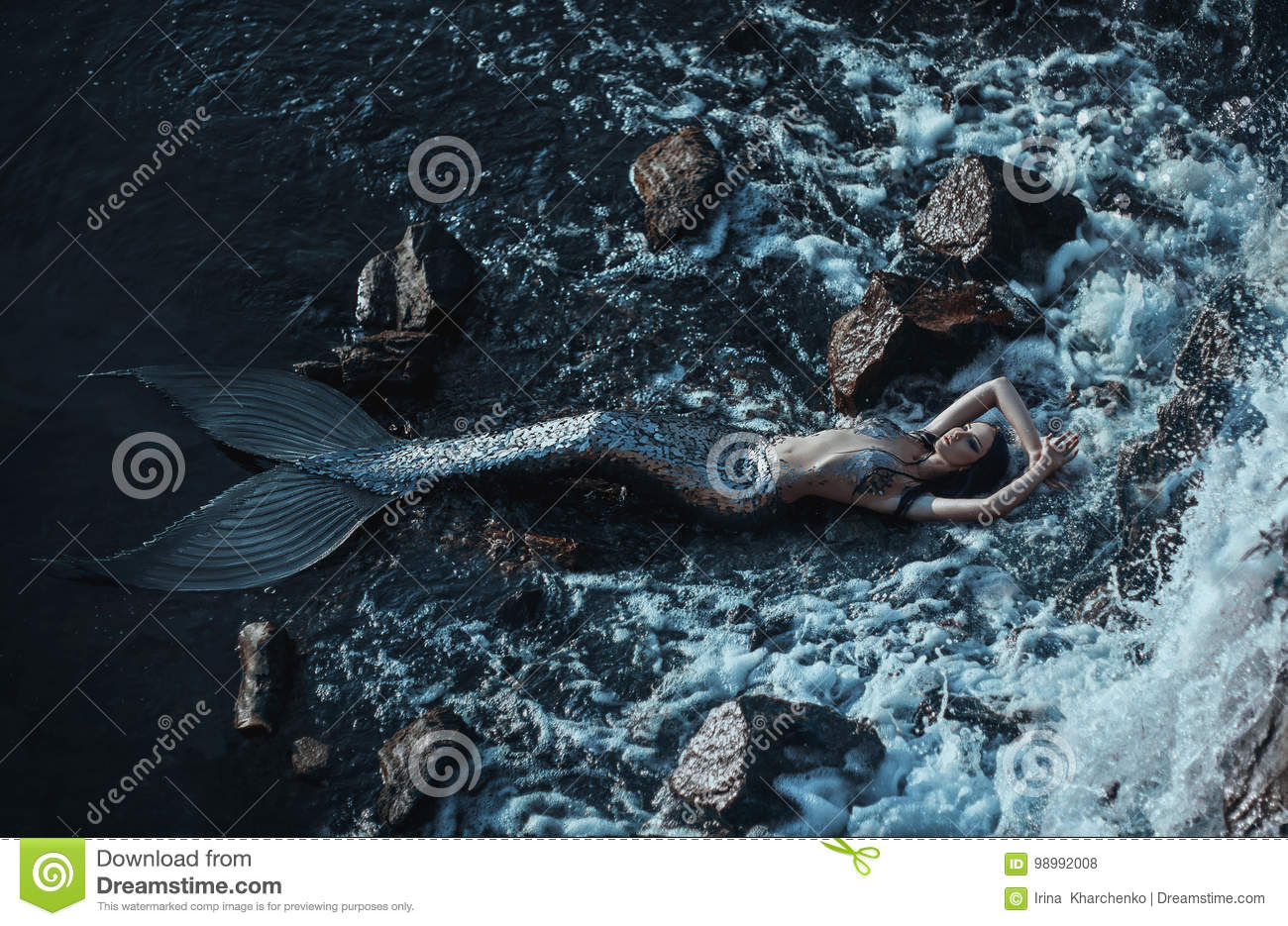 The real mermaid stock photo. Image of river, beautiful ...