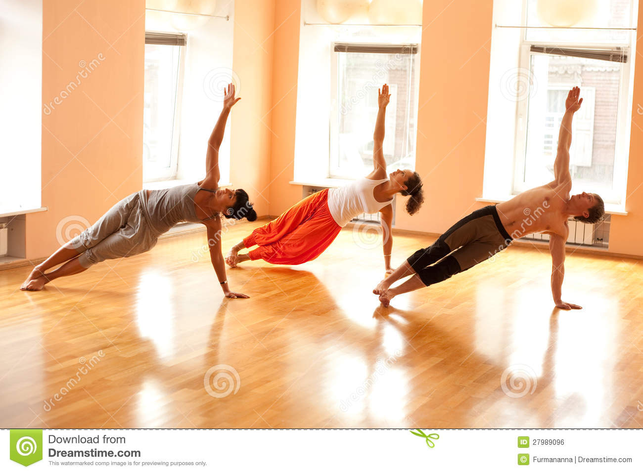 Real People Doing Yoga Stock Photo Image Of Exercise