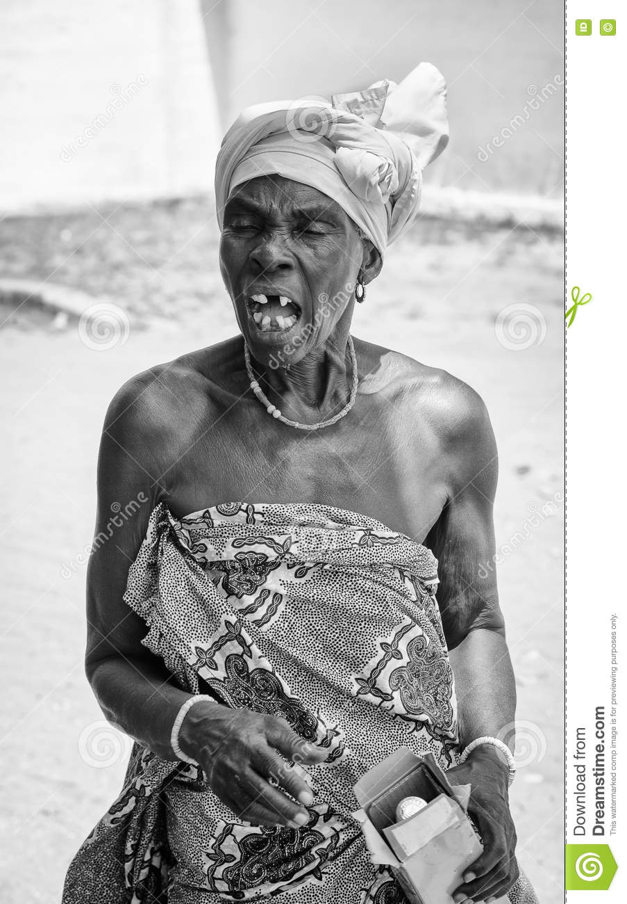 Real People In Togo (Black And White) Editorial Image