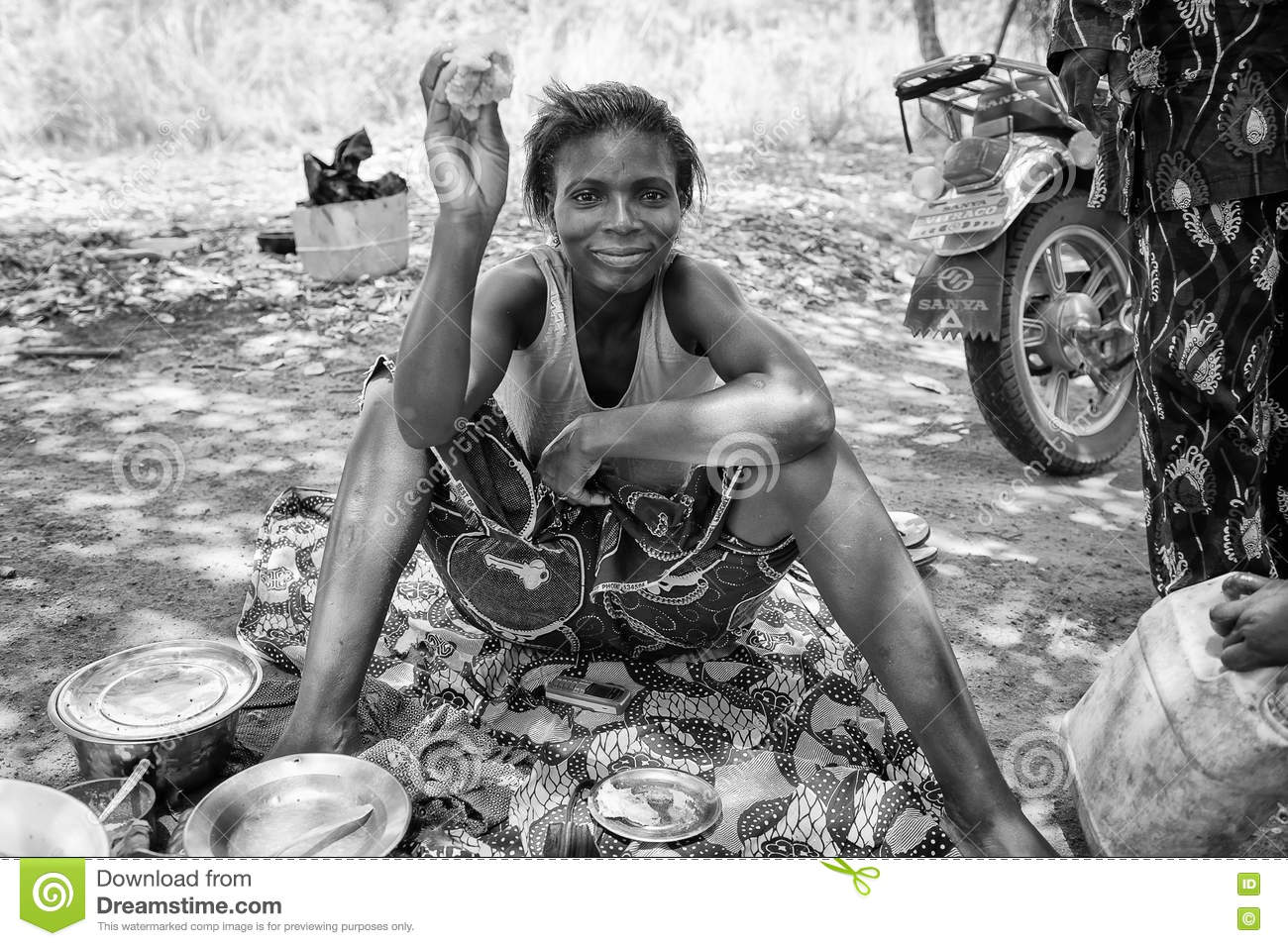 Real People In Togo (Black And White) Editorial Stock
