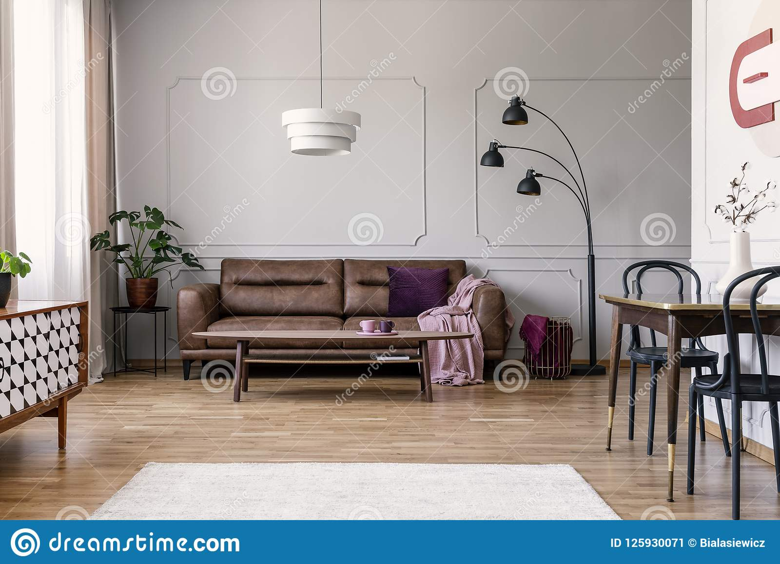 Remarkable Real Photo Of Light Grey Sitting Room Interior With Brown Cjindustries Chair Design For Home Cjindustriesco