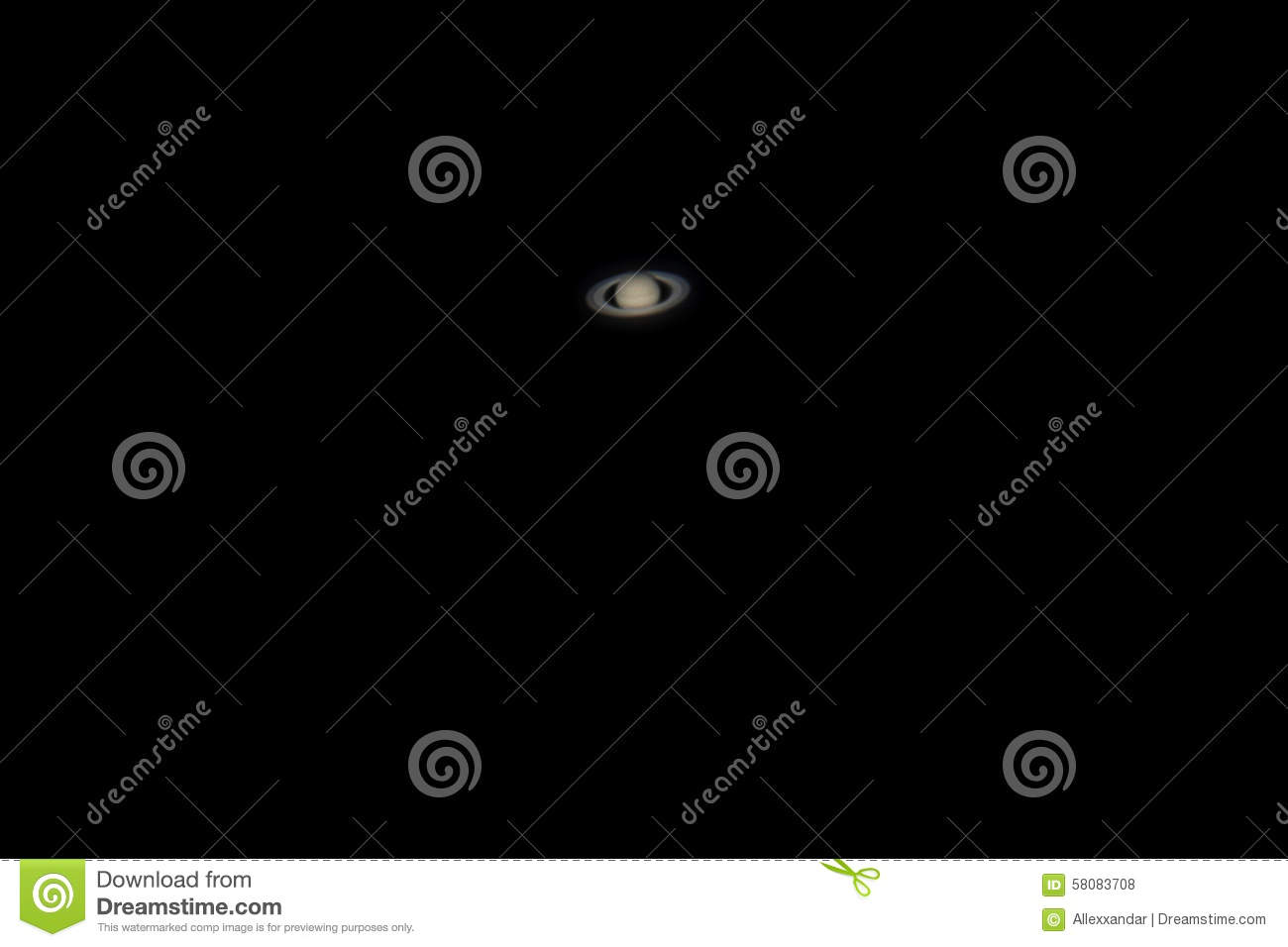 real photo of saturn planet with telescope stock photo image of