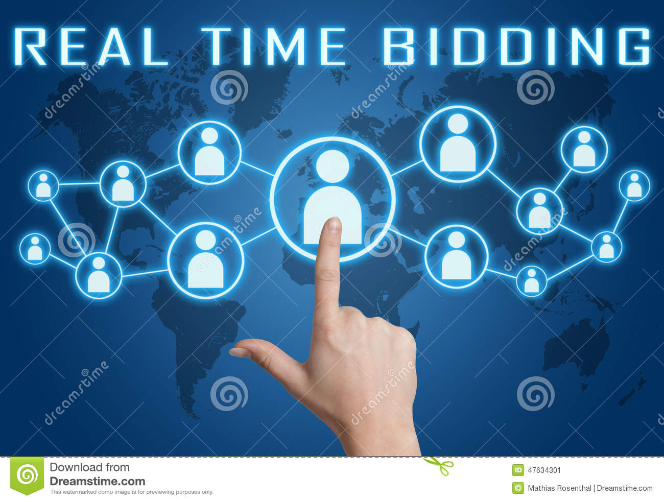 Real Time Bidding Stock Illustration - Image: 47634301