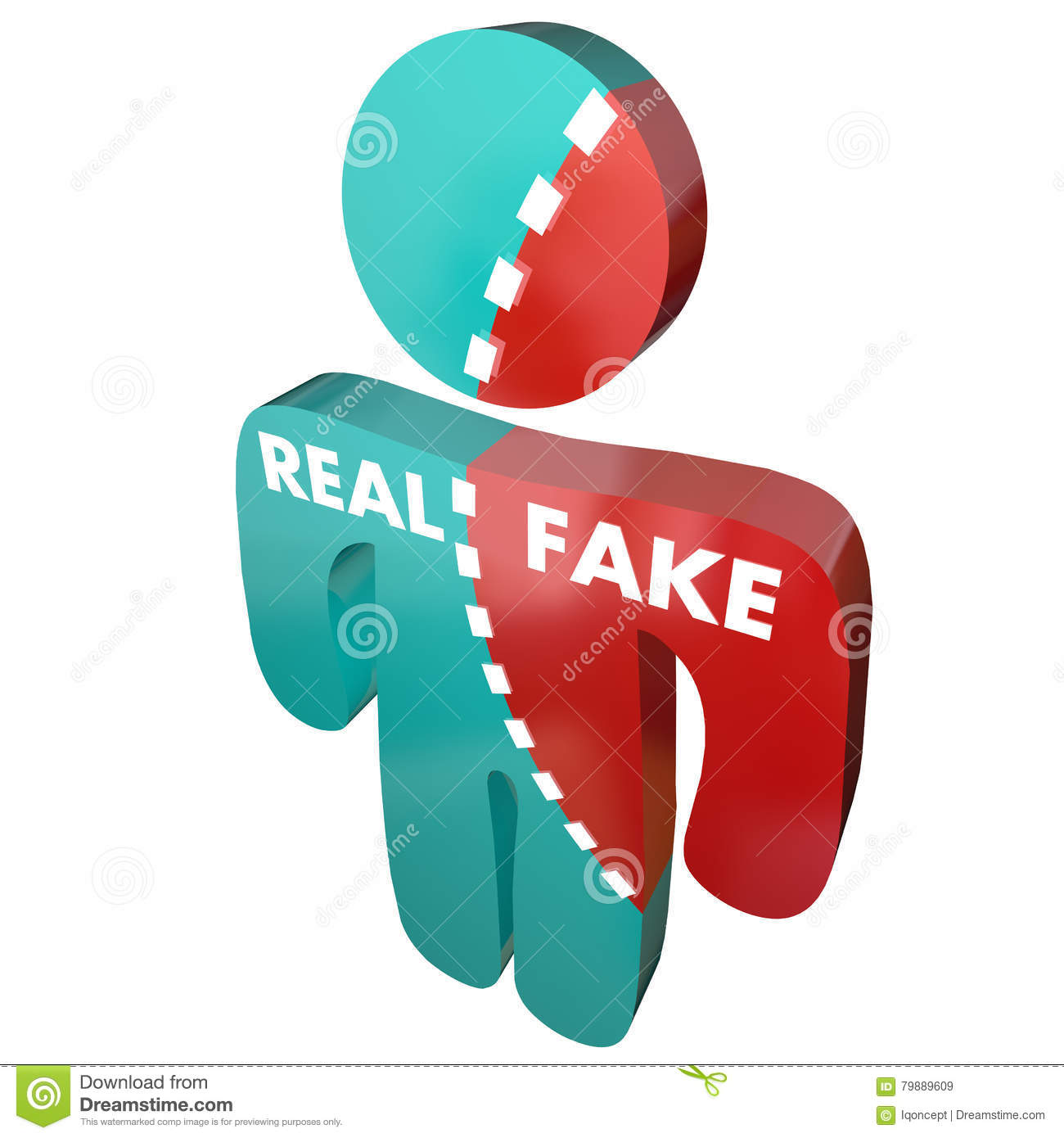 Real Vs Fake Authentic Original Synthetic Person Stock Illustration ... 213d7ebb4