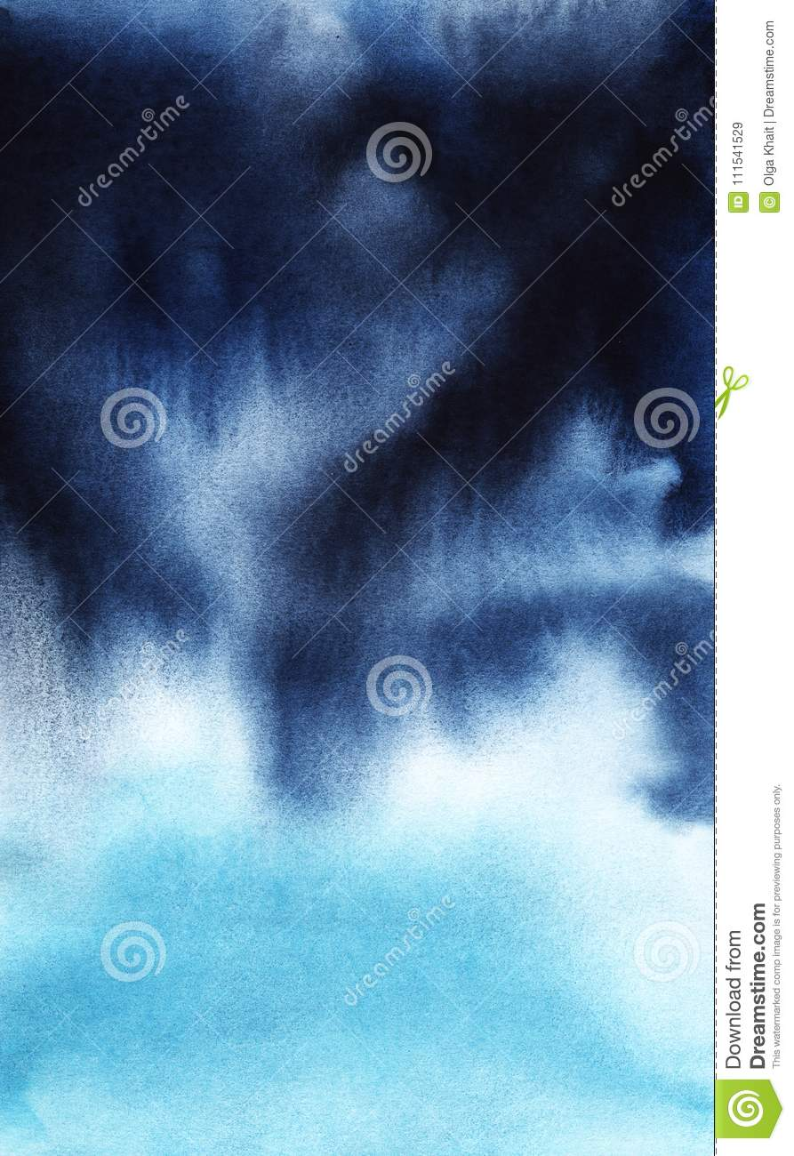 real watercolor background from light to dark blue stock