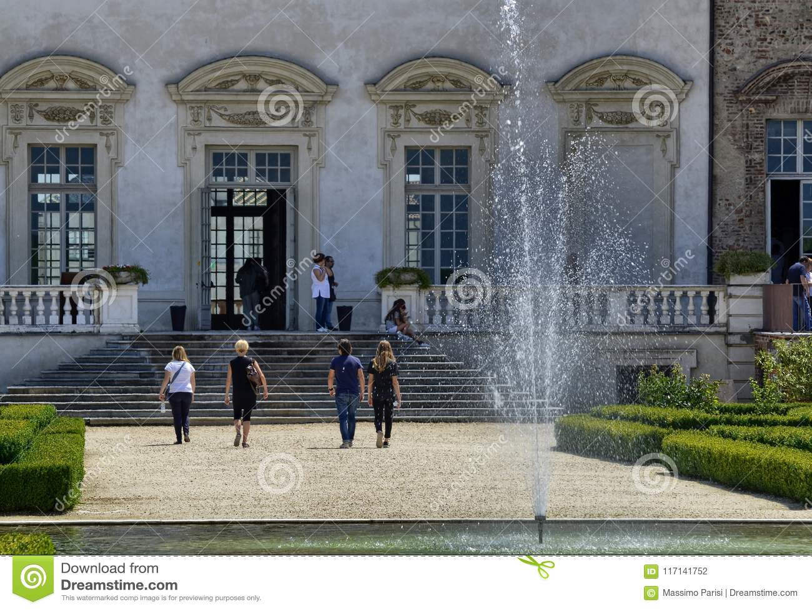 Reale de Venaria, région de Piémont, Italie Juin 2017 Le parc magnifique du palais