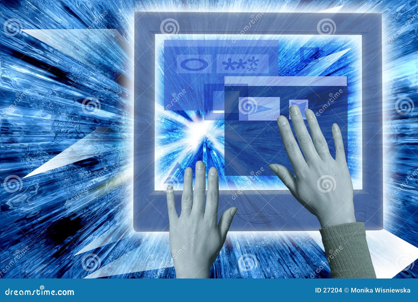 Download Realidad virtual foto de archivo. Imagen de laptop, adentro - 27204