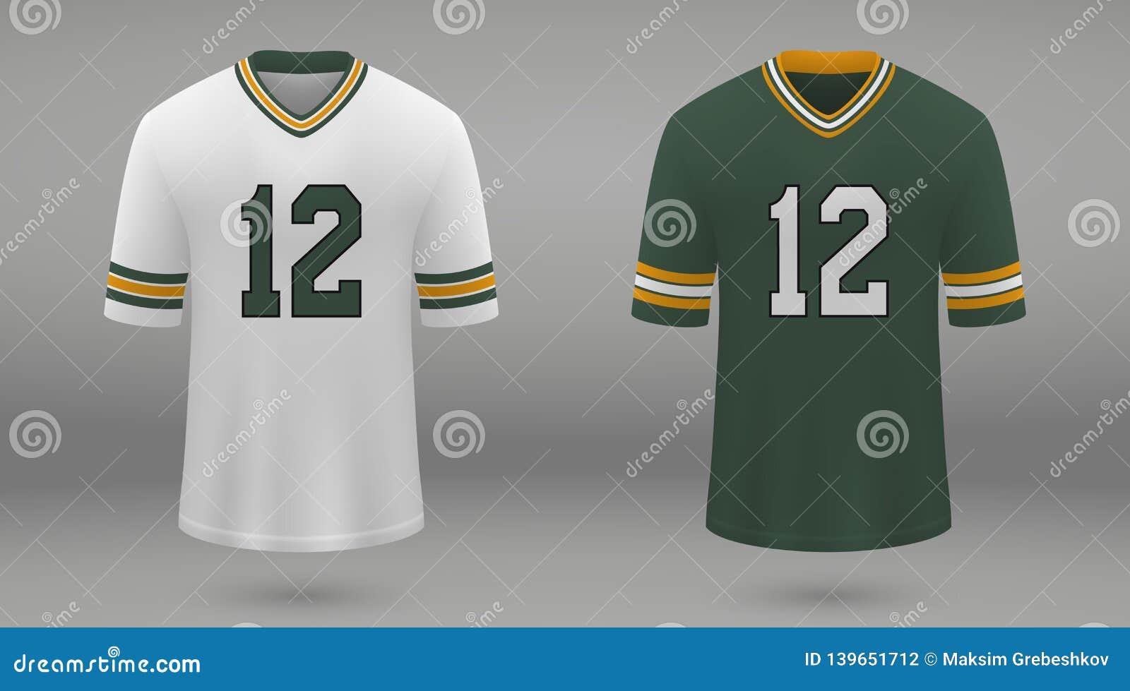 buy popular dfe91 737df Realistic American Football Jersey Stock Illustration ...