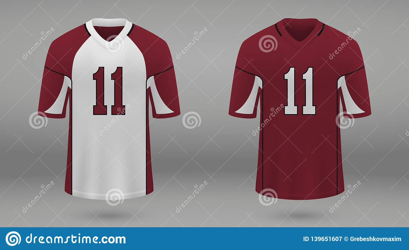 e9d3fb19503 Realistic american football jersey Arizona Cardinals, shirt template for kit.  Vector illustration. More similar stock illustrations