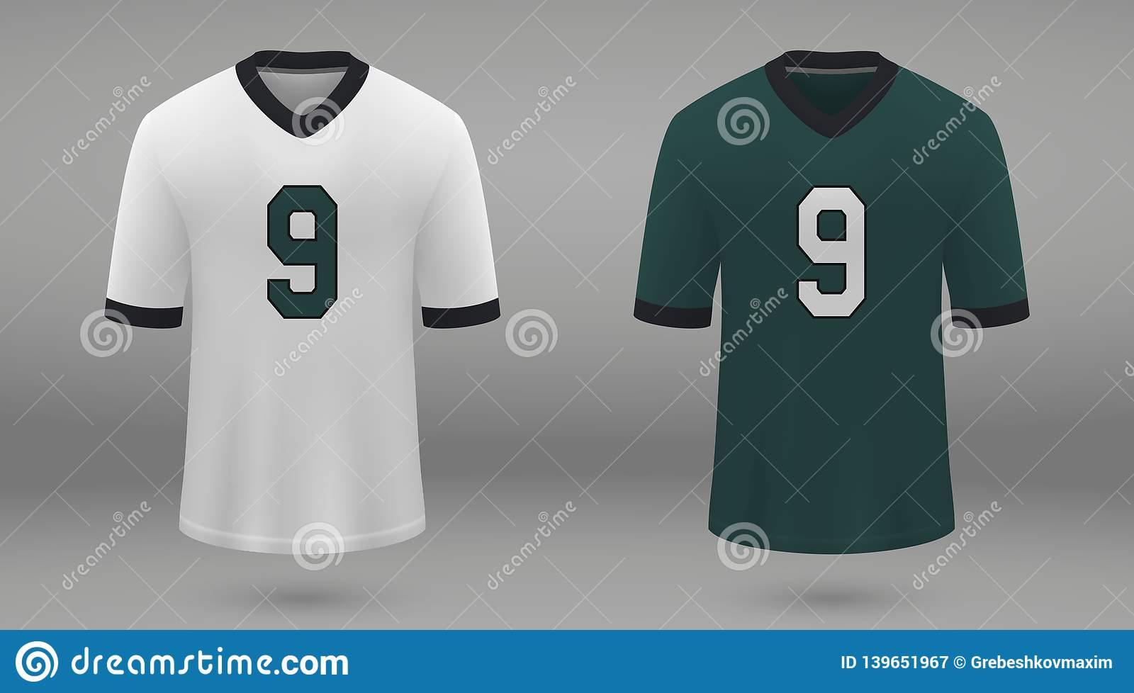 8bf80289f9f Realistic american football jersey Philadelphia Eagles, shirt template for  kit. Vector illustration. More similar stock illustrations