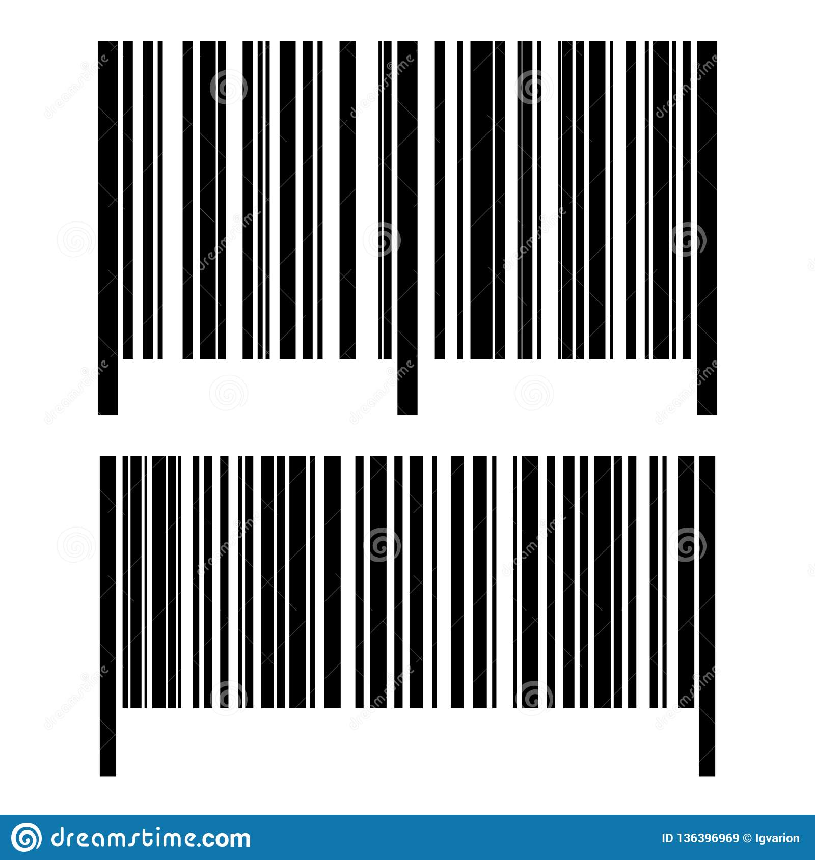 Realistic barcode set icon stock vector  Illustration of