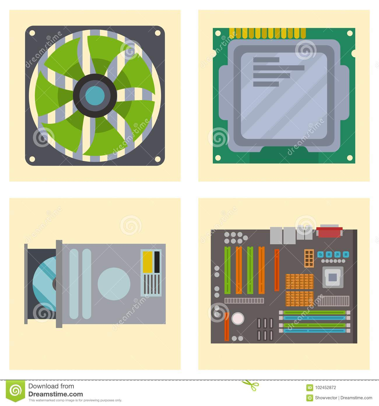 Computer Ic Chip Template Microchip On Detailed Printed Circuit Board Infographic Design Abstract Background Vector Illustration