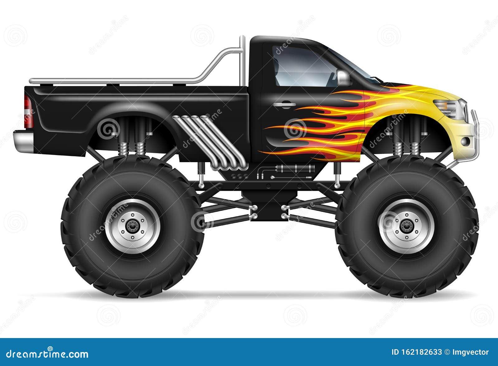 Black Monster Truck Stock Illustrations 345 Black Monster Truck Stock Illustrations Vectors Clipart Dreamstime