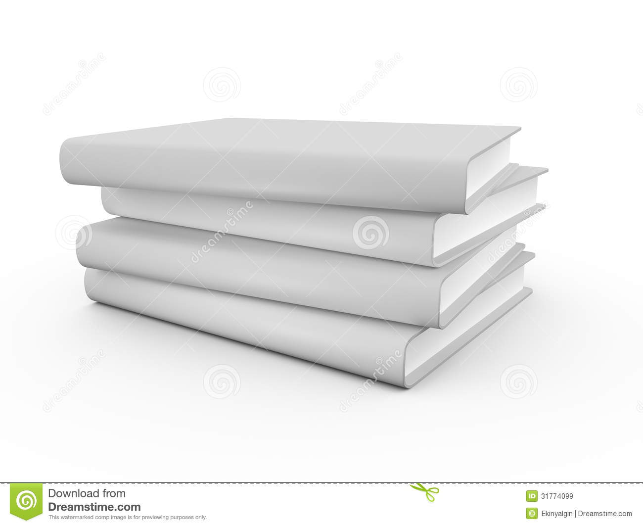 Book Cover Sleeve Template : Realistic blank book cover royalty free stock images