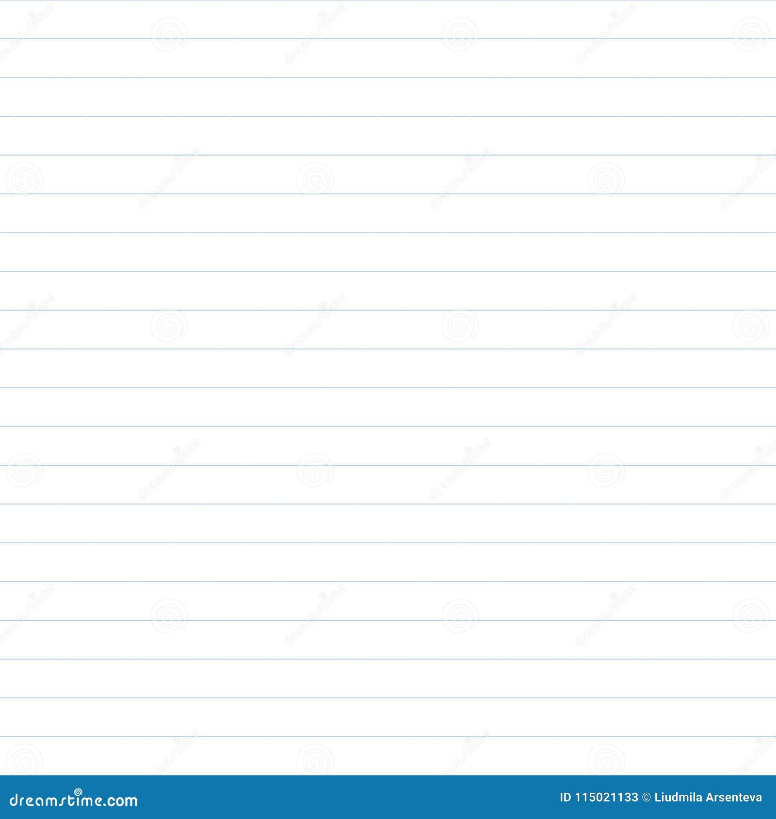 vector pattern of school copybook paper stock vector illustration