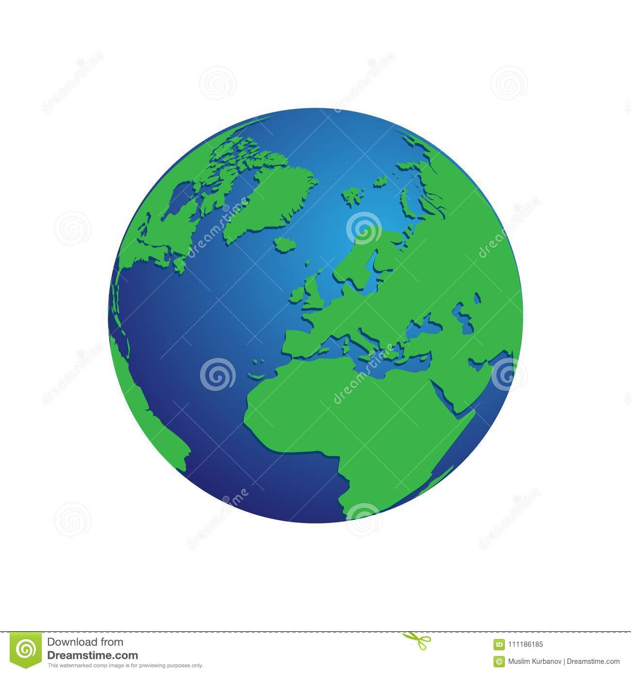 Realistic blue and green 3d world map globe isolated background realistic blue and green 3d world map globe isolated background vector eps 10 gumiabroncs Gallery