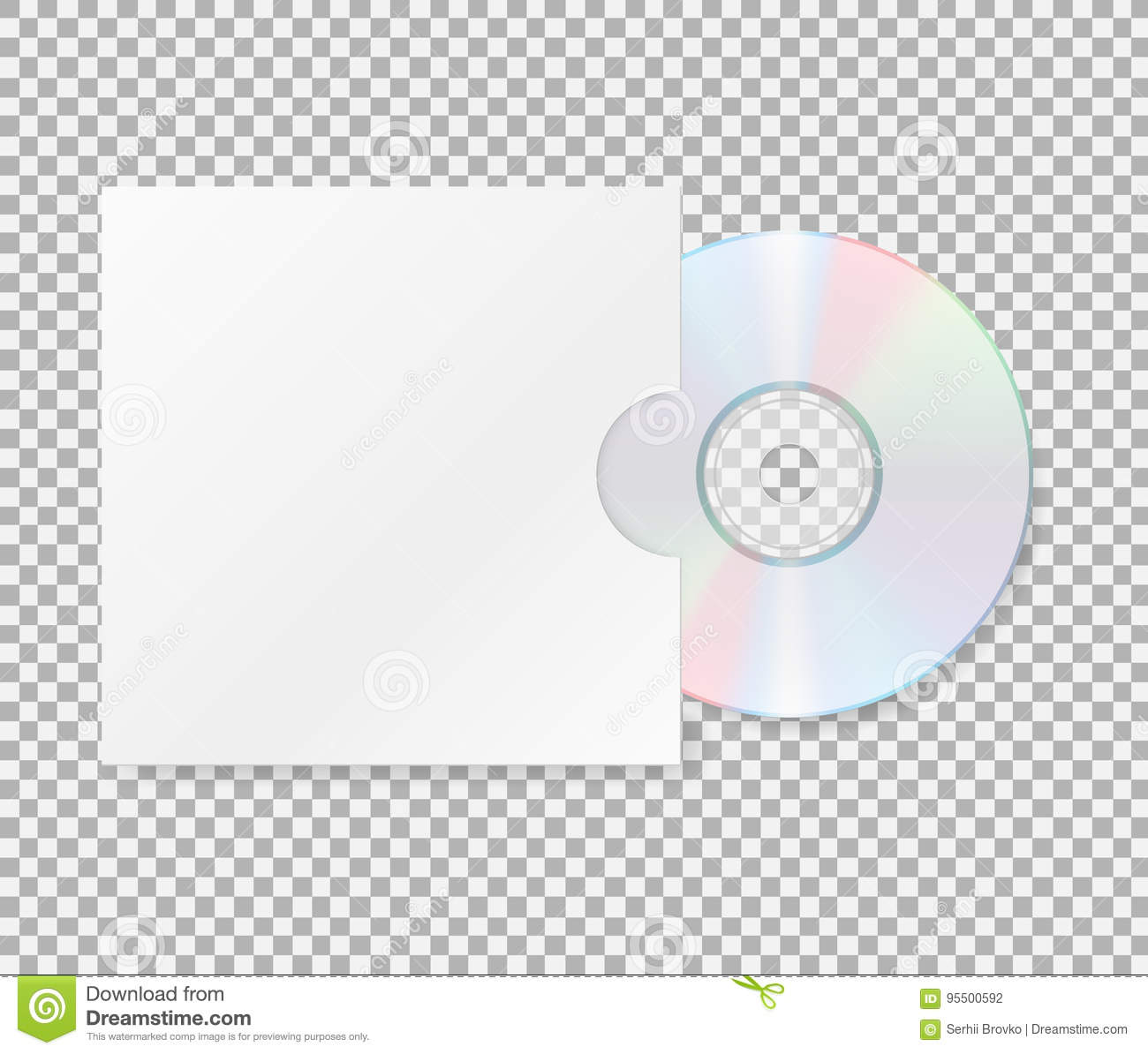 Realistic Cd With Cover. Close Up Of A Cd Dvd Disc.Blank