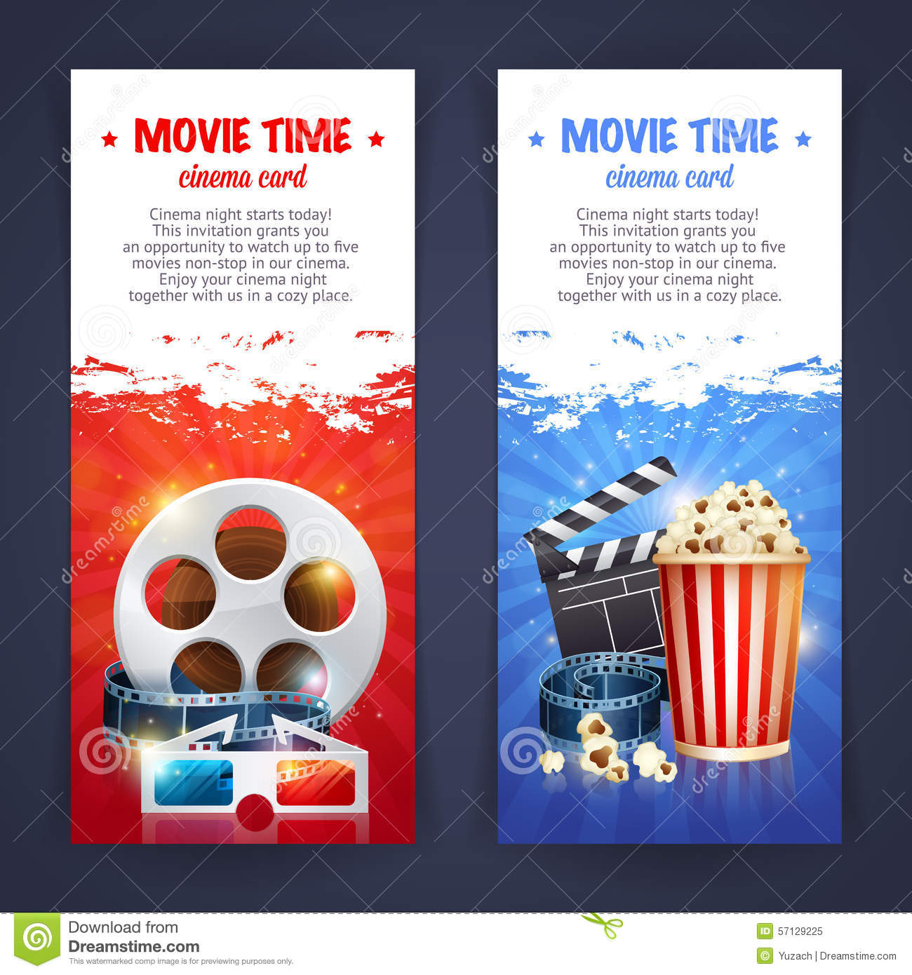 Realistic Cinema Movie Poster Template Bokeh Movies
