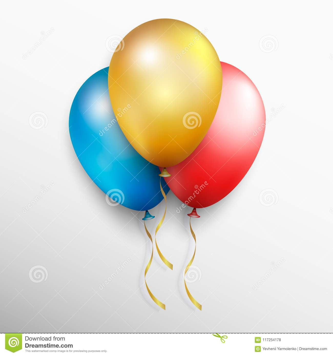 realistic colorful vector balloons colored balloons with white