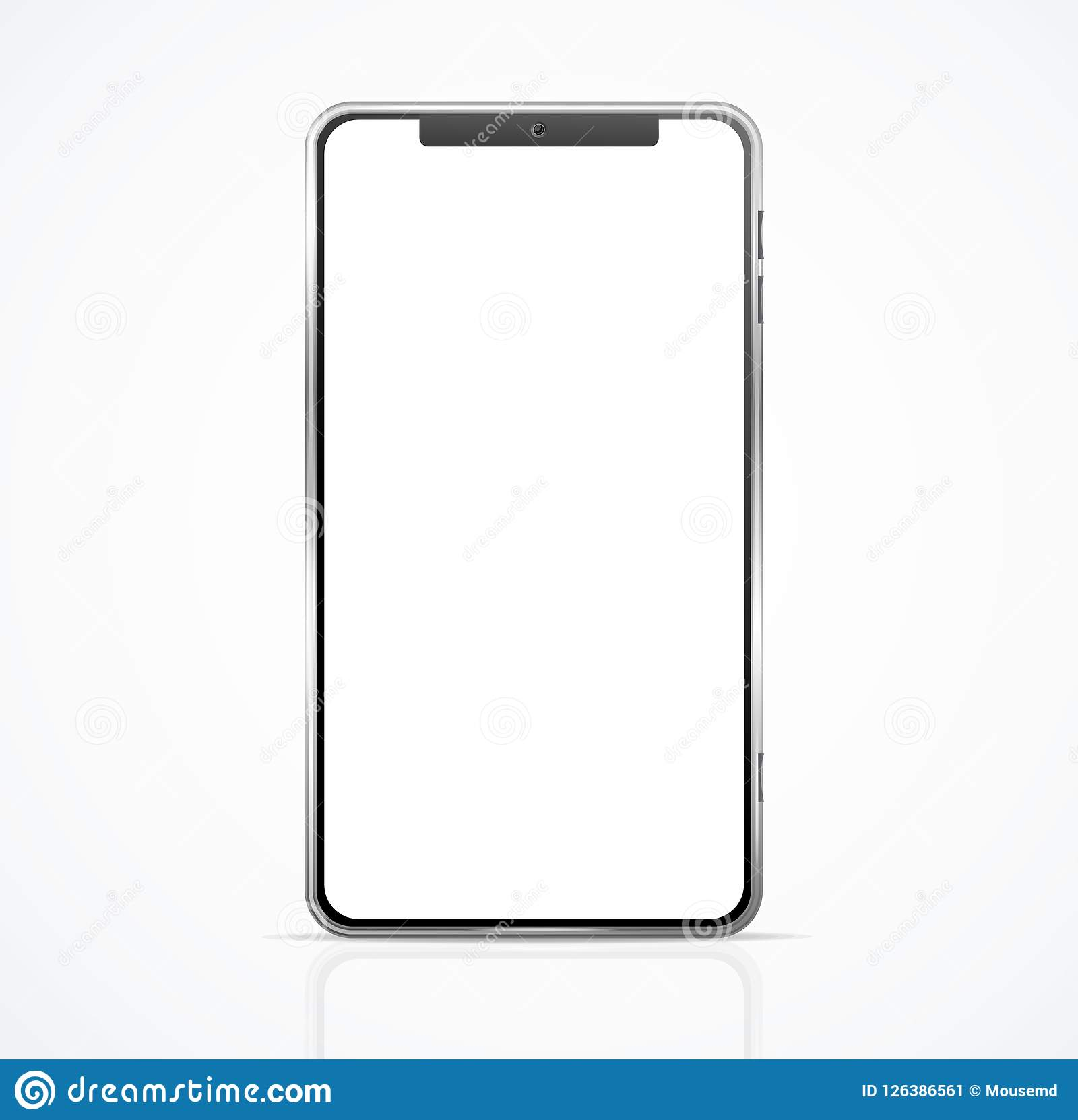 830223dd468038 Realistic Detailed 3d Blank Phone Empty Template Mockup Communication  Technology Element. Vector illustration of Smartphone Gadget or Telephone