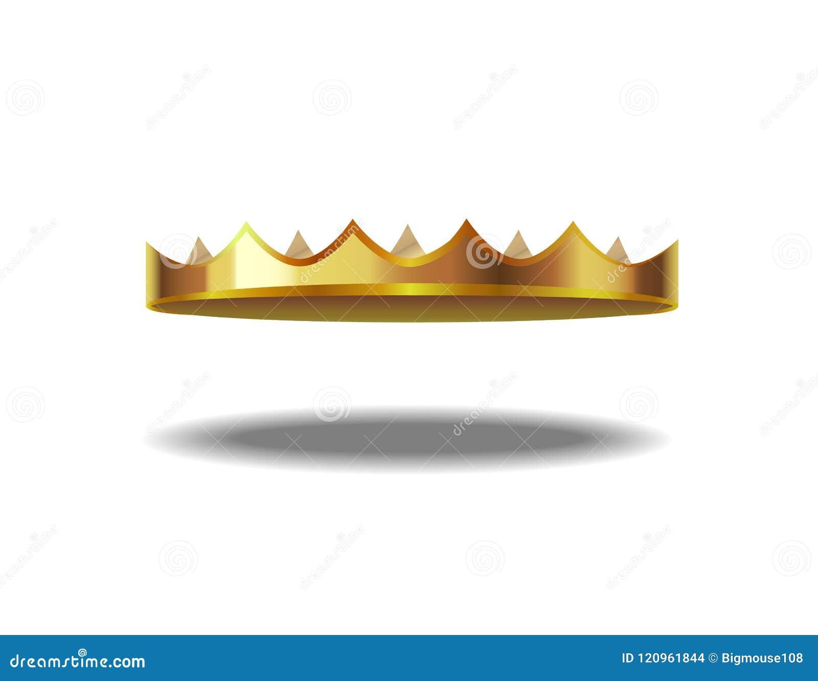Realistic Detailed 3d Golden Crown Vector Stock Vector