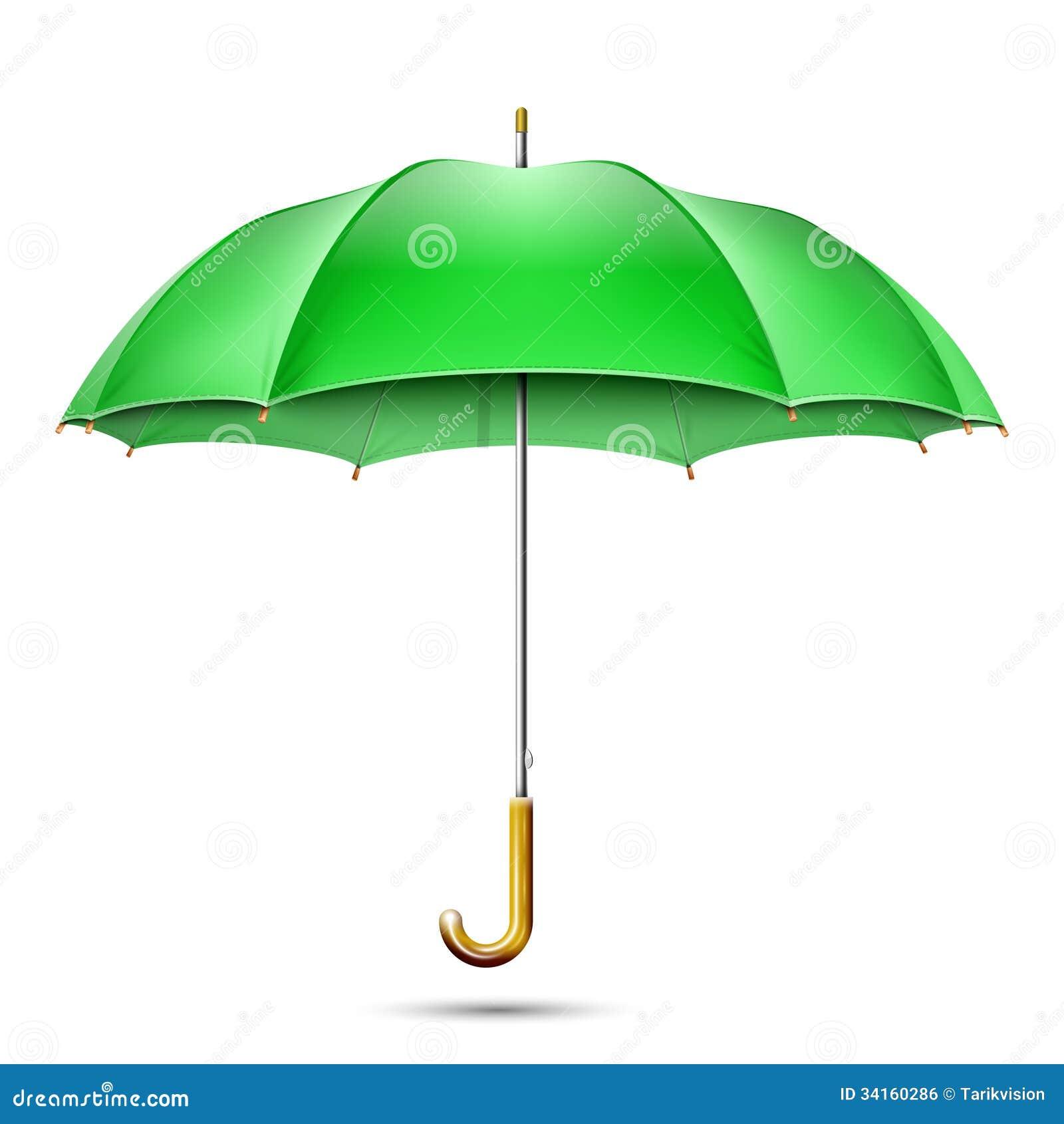 Green umbrella clip art