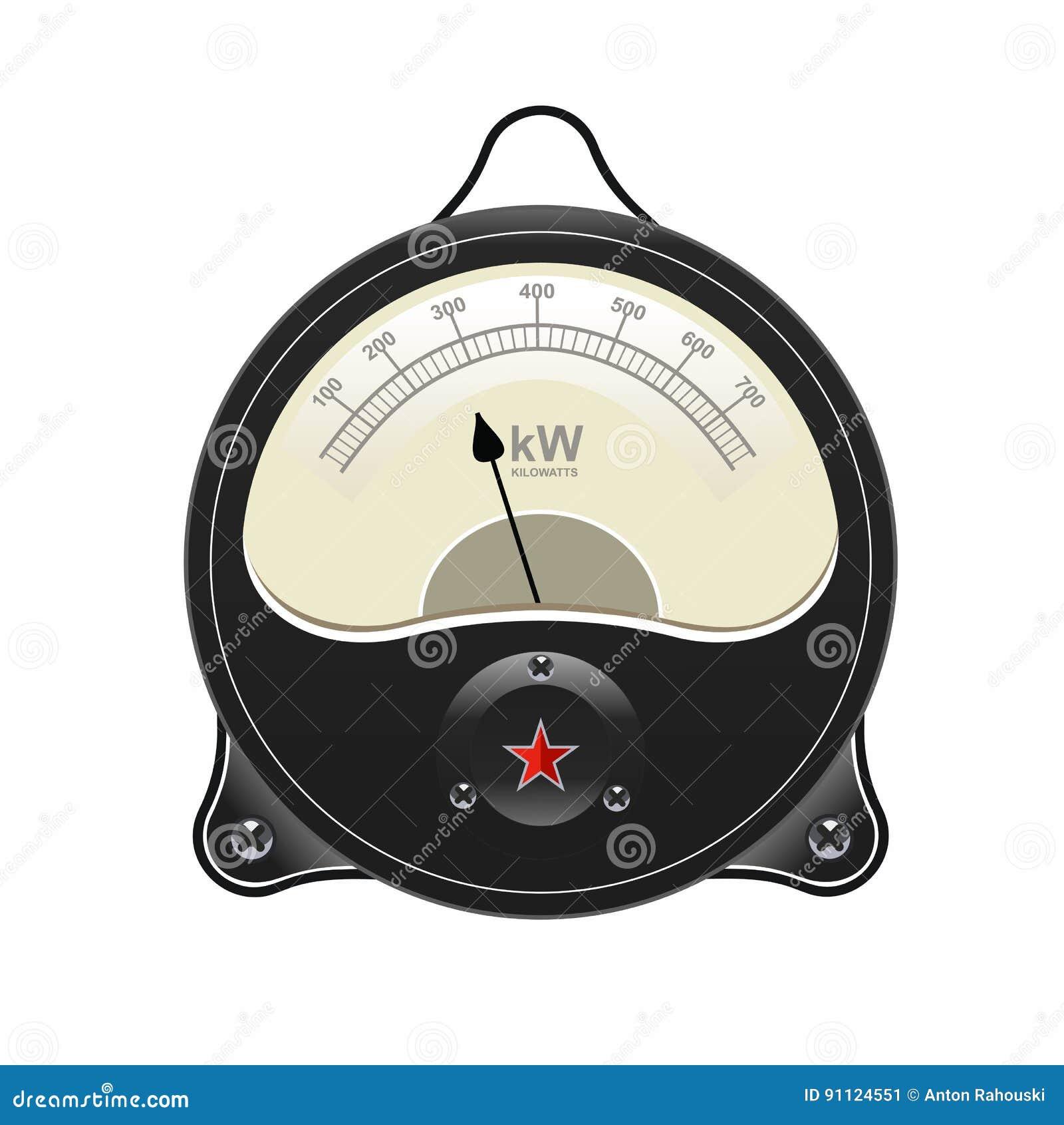 Analog Meter Background : Realistic electronic analog vu signal meter stock