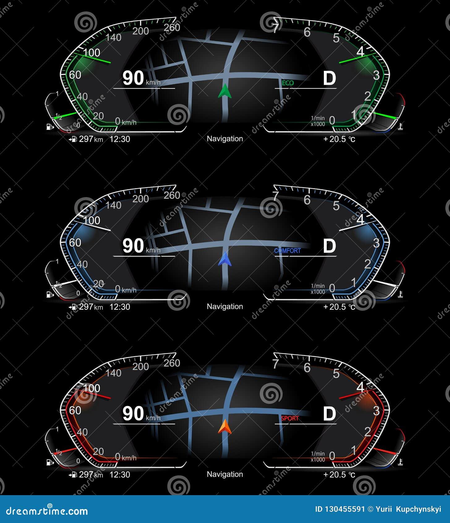 Terrific Realistic Car Dashboard Stock Vector Illustration Of Electronic Wiring Database Gentotyuccorg