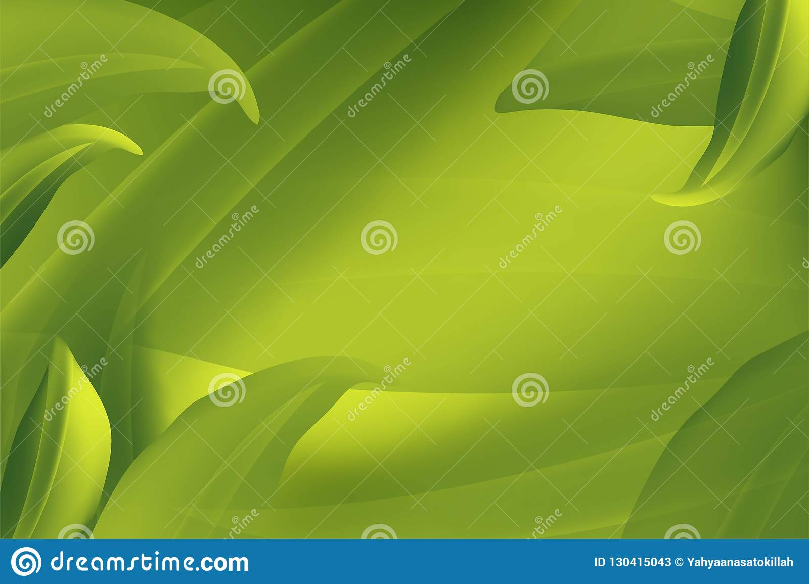 Realistic Fly Green Leaves Pattern Background on a green Organic Element Natural Eco Concept. Vector illustration.