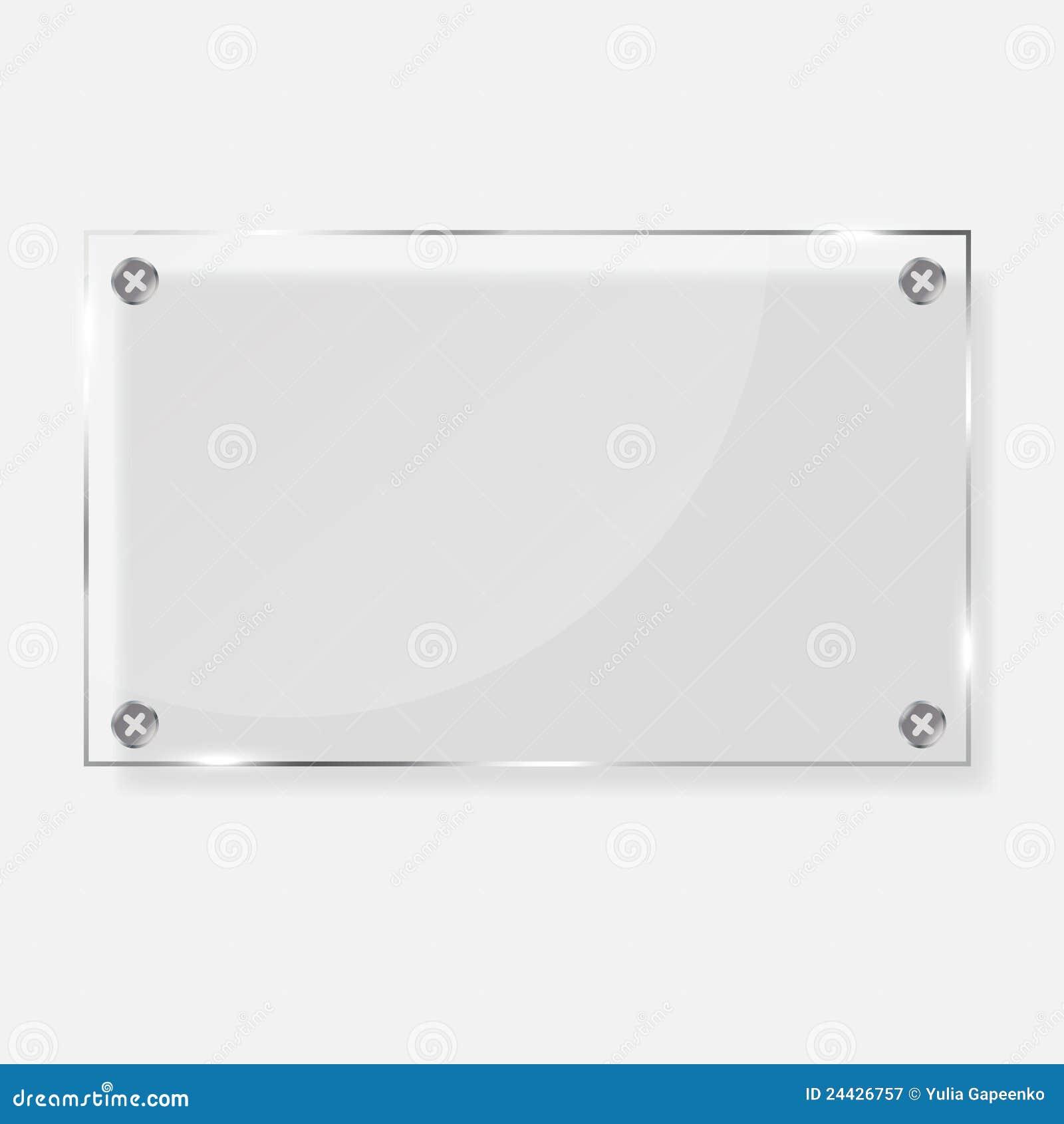 Realistic Glass Frames. Vector Illustration. Stock Vector ...