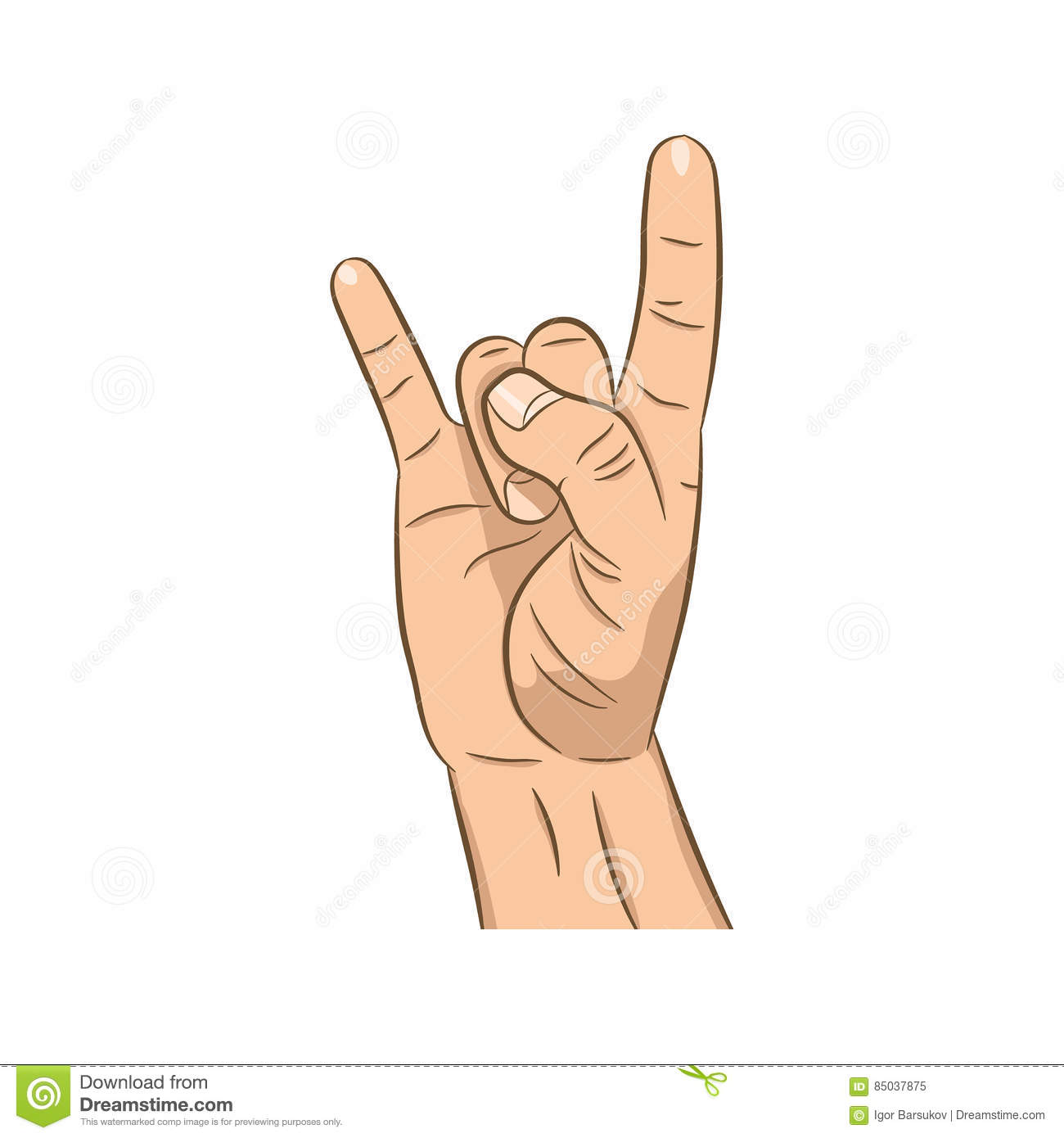 Realistic hand with rock n roll sign stock vector illustration realistic hand with rock n roll sign buycottarizona