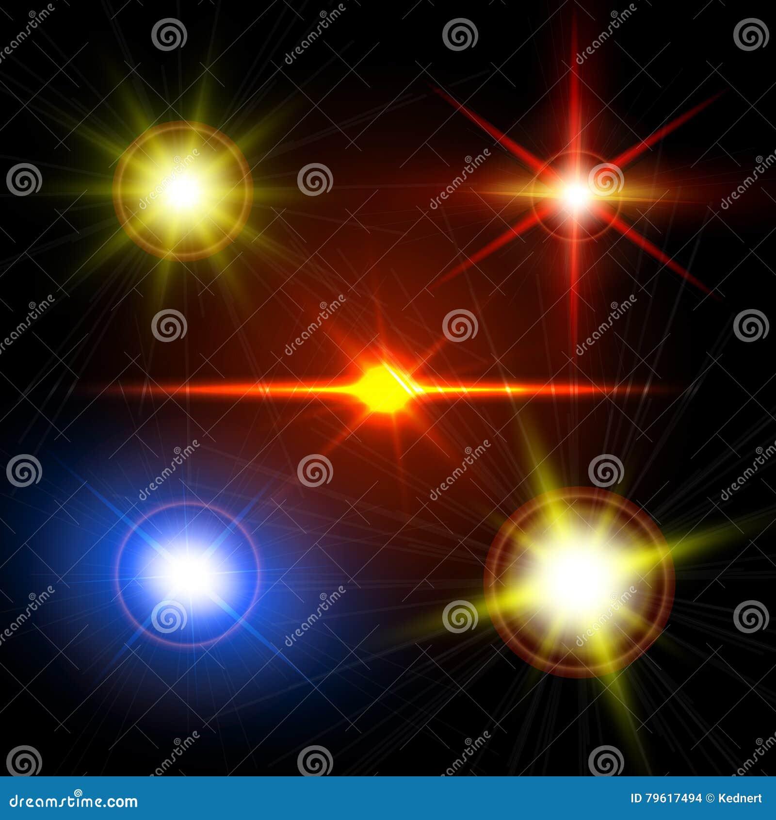 highlight lighting. Download Realistic Light Glare Sparkle, Highlight Set. Lighting Effects Of  Flash. Stock Vector Highlight Lighting E