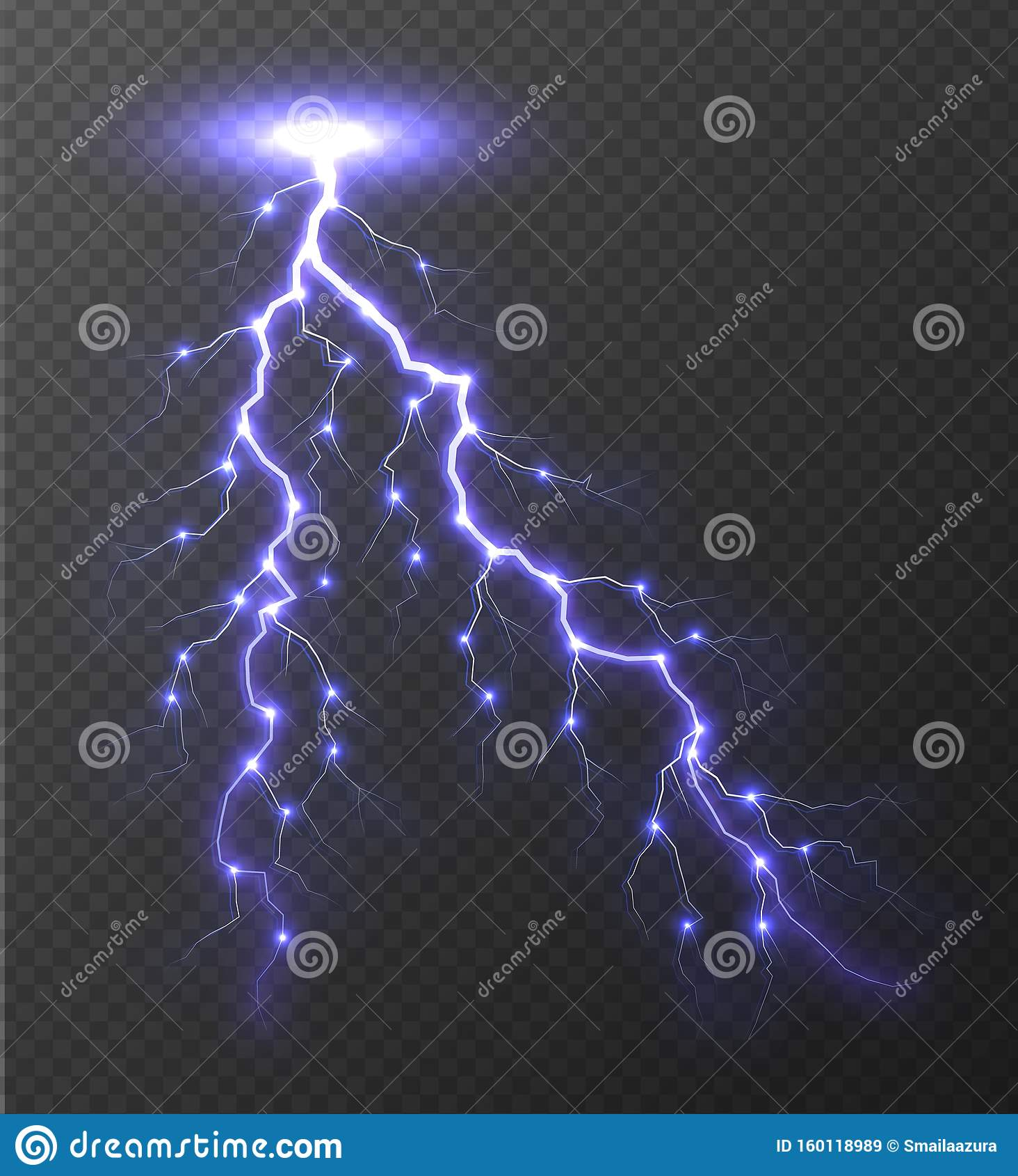 Realistic Lightning Bolt Isolated On Transparent Background Stock Vector Illustration Of Effect Light 160118989