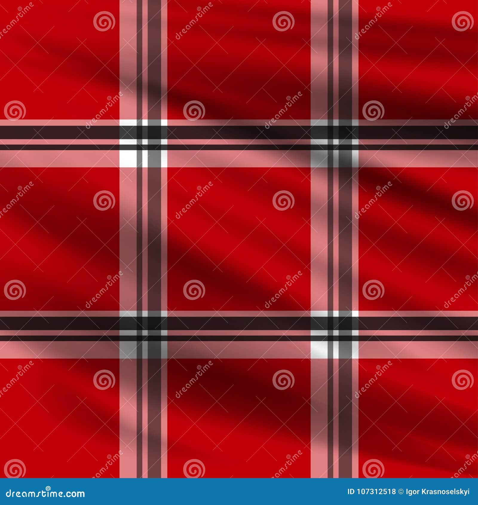 Realistic Lumberjack plaid pattern vector