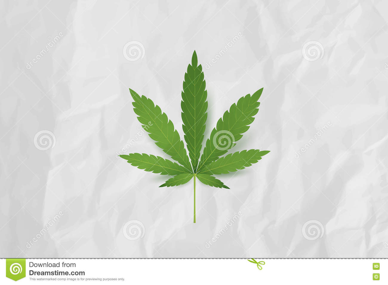 how to make a paper weed leaf