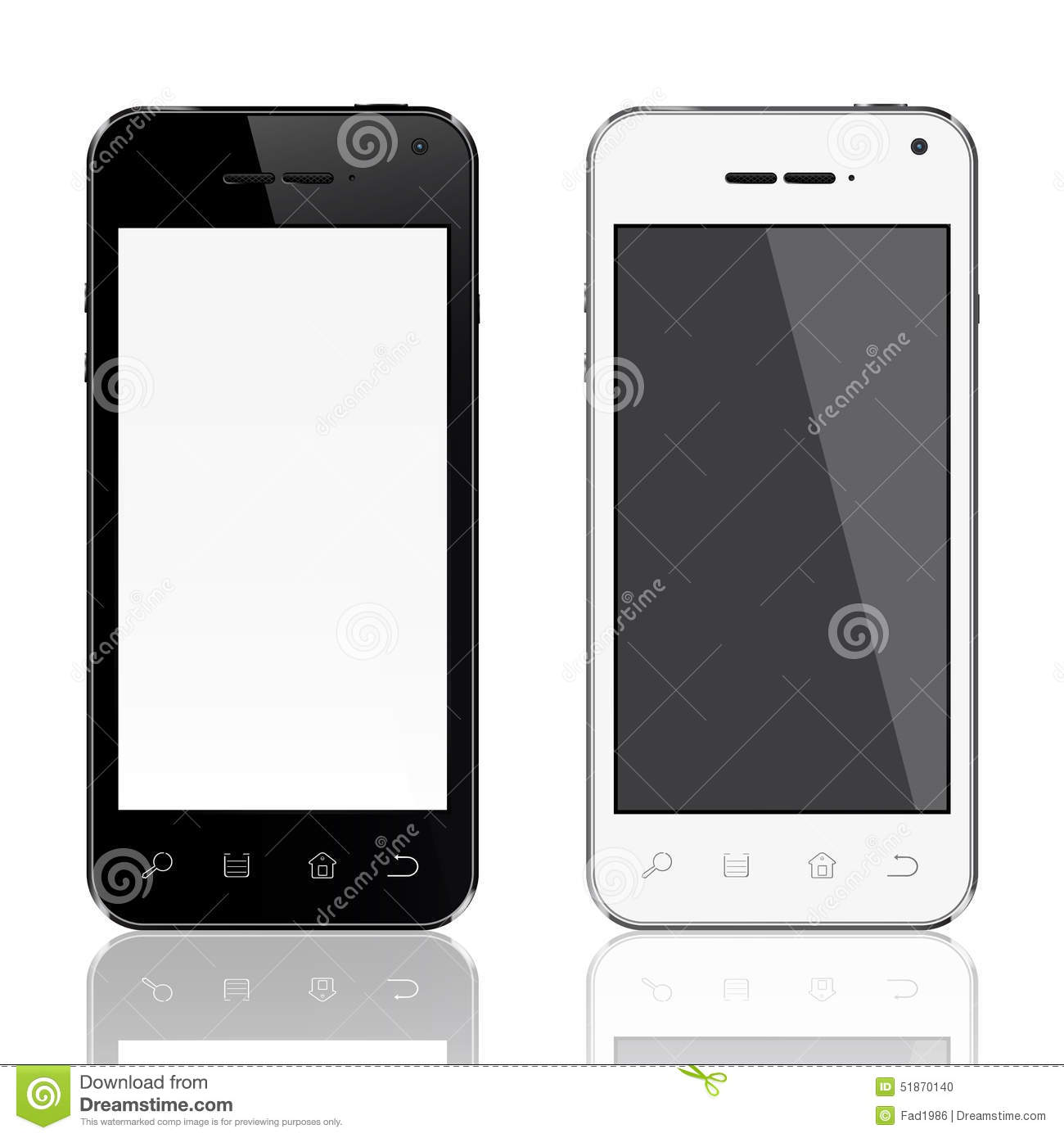 Realistic Mobile Phone Template Stock Illustration - Image: 51870140