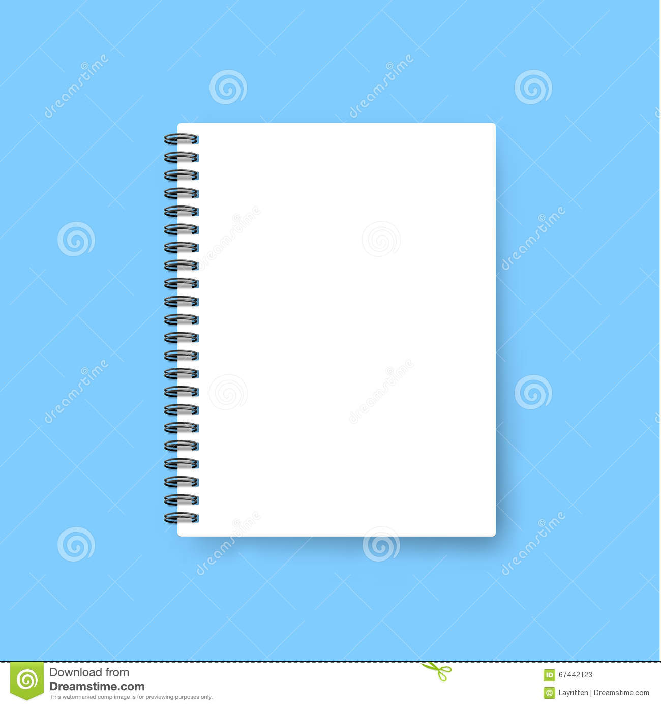 Notebook Cover Template ~ Realistic notebook template blank cover design mock up